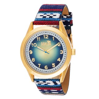Xtreme Van Sicklen Men's Gold with Blue Canvas Gold Watch