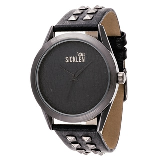 Xtreme Van Sicklen Men's Gun Metal Studded Leather Stud Watch