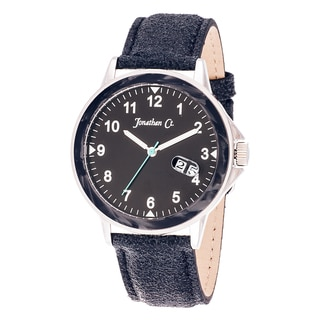Jonathan Ct. Larchwood Men's Analog Black Leather Strap Watch