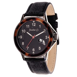 Jonathan Ct. Larchwood Men's Analog Gun Metal Black Leather Watch https://ak1.ostkcdn.com/images/products/9817428/P16982793.jpg?impolicy=medium