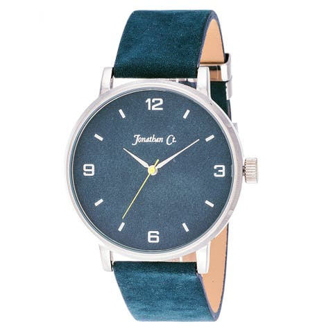 Jonathan Ct. Palmer Men's Analog Silver/ Blue Leather Watch
