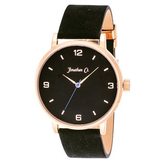 Jonathan Ct. Palmer Men's Analog Rose/ Black Leather Watch