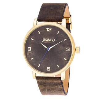 Jonathan Ct. Palmer Men's Analog Gold/ Brown Leather Watch