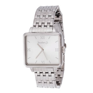 Jonathan Ct. Pullman Men's Analog Silver Square Watch