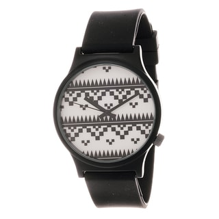 Van Sicklen Men's Black and White Tribal Dial Watch