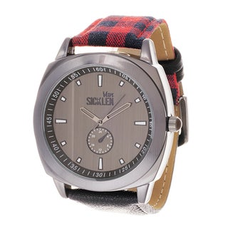 Van Sicklen Men's Gun Metal Fabric Jumbo Grey Watch