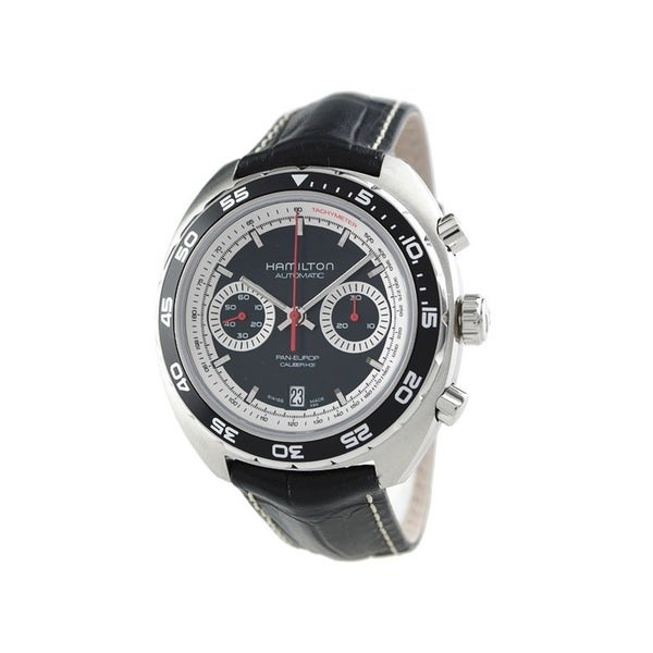 Hamilton Men's H35756735 Pan Europ Auto Chrono Black Watch
