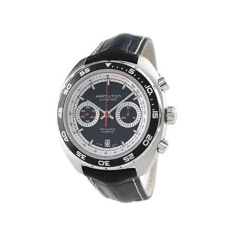 Hamilton Men's H35756735 Pan Europ Auto Chrono Black Watch
