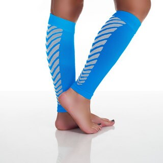 Remedy Calf Sport Compression Running Sleeve Socks Blue