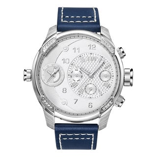 JBW Men's G3 Diamond Accent Blue Leather Watch