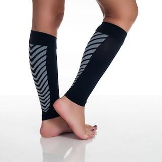 c576ed12cc Shop Remedy Calf Sport Compression Running Sleeve Socks Black - Free ...