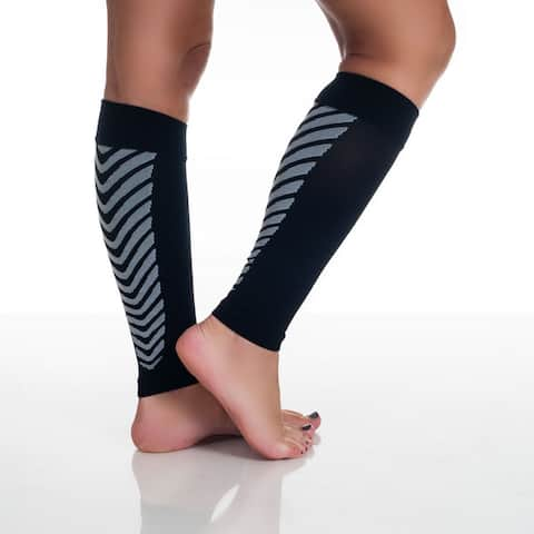 Remedy Calf Sport Compression Running Sleeve Socks Black