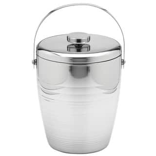 Groove 4-quart Stainless Steel Ice Bucket