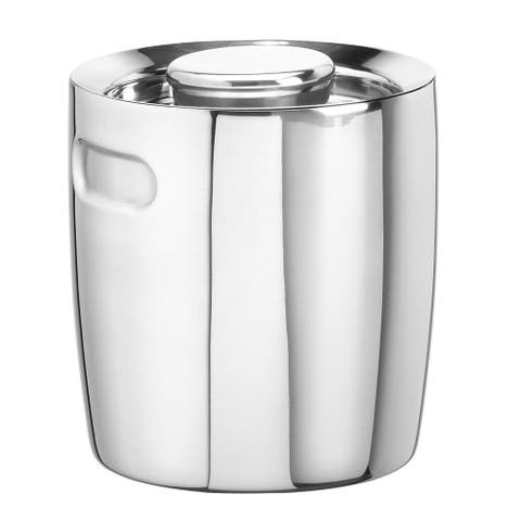 Polished Stainless Steel 1.5-quart Ice Bucket