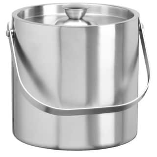 Brushed Stainless Steel 3-quart Double Wall Ice Bucket