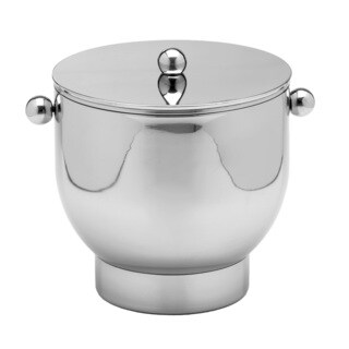 Forme Polished Stainless Steel 3-quart Ice Bucket with Base and Lid