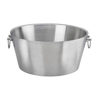 19-inch Brushed Stainless Steel Double-wall Insulated Beverage Tub