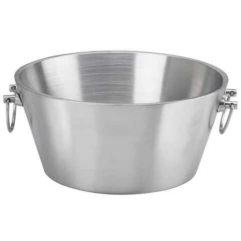 15-inch Brushed Stainless Steel Double-wall Insulated Beverage Tub