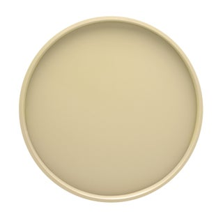 Fun colors 14-inch Round Serving Tray (Option: Ivory)