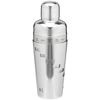 Polished Stainless Steel 32-ounce Recipe Cocktail Shaker
