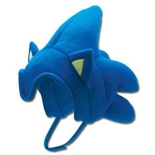 Adult Sonic The Hedgehog Costume Headpiece Fleece Hat
