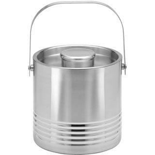 Kraftware Ripple Brushed Stainless Steel 1.5-quart Ice Bucket
