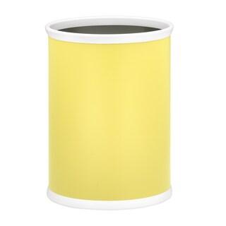 Fun Colors 14-inch Oval Waste Basket (Option: Lemon)