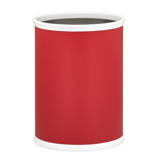 Fun Colors 14-inch Oval Waste Basket (Option: Red)