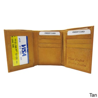 Men's Classic Genuine Leather Trifold Wallet (4 options available)