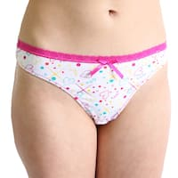 Prestige Biatta Alexis Printed Cotton White Thong