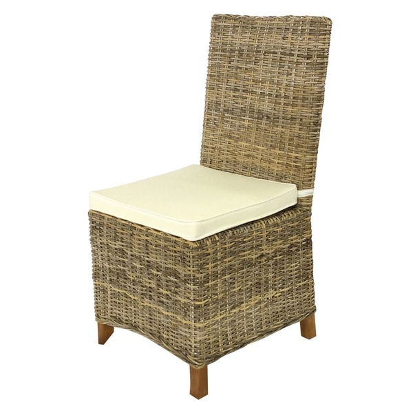Handmade D Art Rattan Wicker Dining Chairs Set Of 2 Indonesia Free Shipping Today 9817650