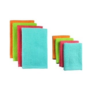 Design Imports Bright Terry Bar Mop 8-piece Dishtowel/ Dishcloth Set