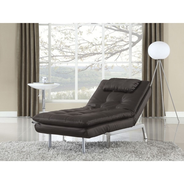 Serta Valencia Click Clack Convertible Java Bonded Leather