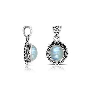 Handmade .925 Sterling Silver Bali Oval Rainbow Moonstone Pendant (Indonesia) https://ak1.ostkcdn.com/images/products/9817739/P16983020.jpg?impolicy=medium