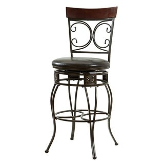 Powell Onyx Scroll Barstool