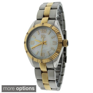 KC Women's WWT Stainless Steel Watch Japanese Quartz 42 Brilliant Round Diamonds Metal Bracelet