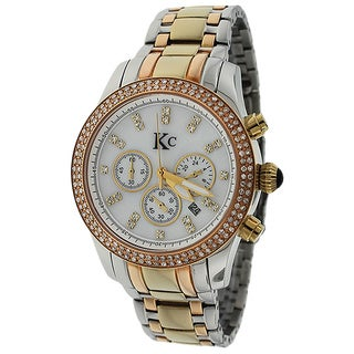 KC Women's WLAX Stainless Steel and Rosegold-tone Brilliant Diamond Watch