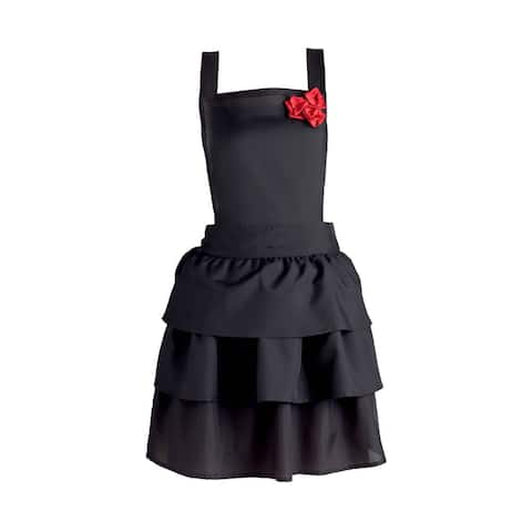 DII Ruffles and Red Roses Vintage Apron