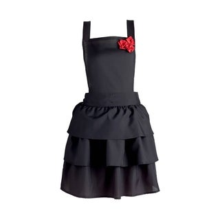 Design Imports Ruffles and Red Roses Vintage Apron