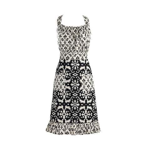 DII Black and White Mixed Print Vintage Apron