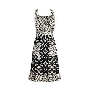 Design Imports Black and White Mixed Print Vintage Apron