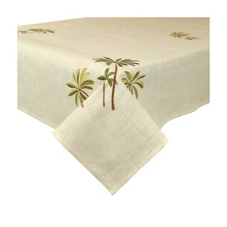Design Imports Palm Tree Embroidered Tablecloth (60 x 84 inches)