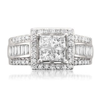 Montebello 14k White Gold 1 3/4ct TDW Princess-cut Diamond Ring (G-H, SI2)