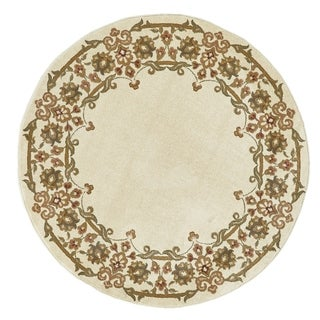 "Grand Bazaar Power Loomed Wilshire Rug in Ivory 5'-1"" X 5'-1"" Round"