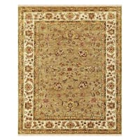 "Grand Bazaar Hand-knotted 100-percent Wool Pile Wimbledon Rug in Sand/Ivory 8'-6"" x 11'-6"" - 8'-6"" x 11'-6"""