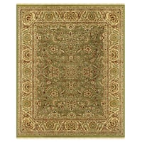 "Grand Bazaar Hand-knotted 100-percent Wool Pile Edmonton Rug in Light Green/Cream 8'-6"" x 11'-6"""