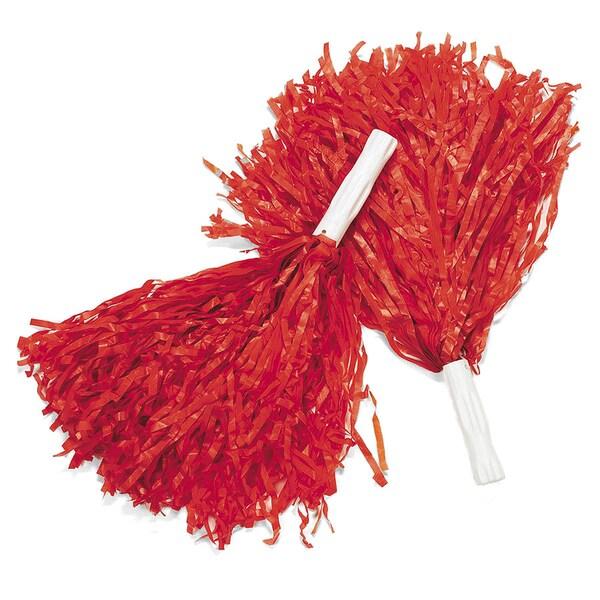 Women's Cheerleading Red Pom Poms (Pair)