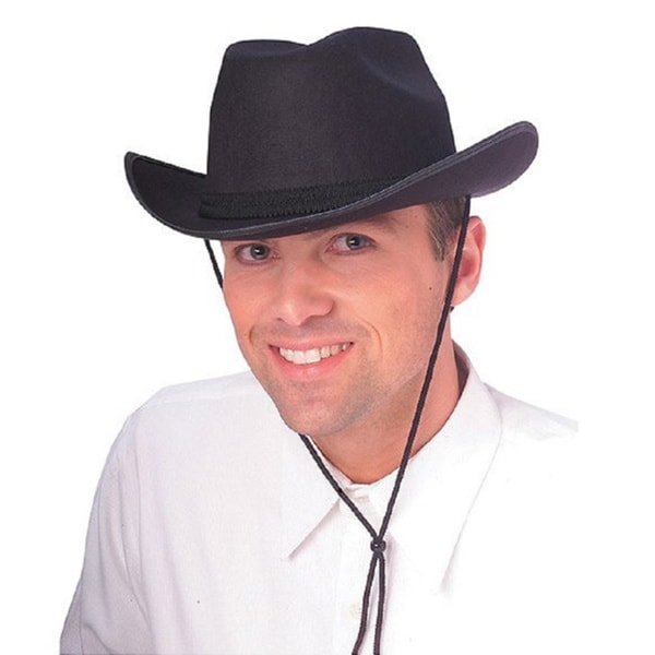 Adult Black Cowboy Costume Hat