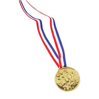 Plastic USA Gold Winner Medal