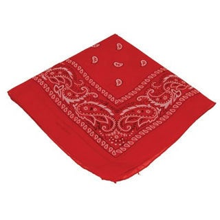 Red Traditional Paisley Bandanna